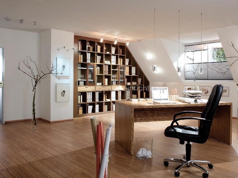 Wohnzimmer regalwand system - Hausbibliothek regalwand im wohnzimmer ...
