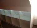 Schrank für Dachschräge mit Schiebeüren und LED Beleuchtung mit Türkontakten