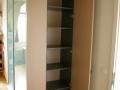 002_Einbauschrank mit Drehtür an der Seite und vorn mit 2 Glas-Schiebetüren