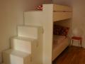001_Stockbett für Kinder Maßanfertigung mit Treppe aus Schränken