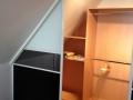 06_begehbarer Kleiderschrank Ankleidezimmer mit Schiebetüren unter Dachschräge für Leipzig Dresden
