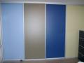 hochwertige raumhohe Schiebtüren mit 4 verschiedenen Farben als Dekor Füllung