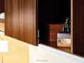 Wohnzimmer Regal mit Schiebetüren nach Maß