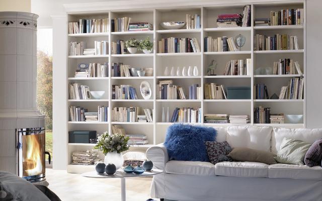 Bibliothek in Endlosbauweise